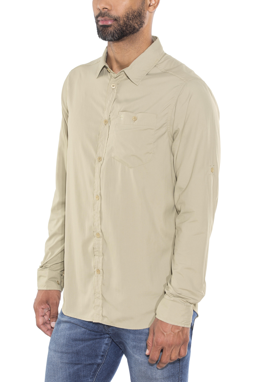 Craghoppers NosiLife Tatton - T-shirt manches longues Homme - beige gris b741cf1d9a9a